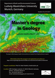 2013/14 Master's Degree Program in Geology